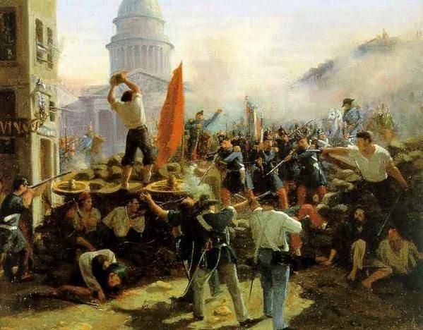 D'après Ernest Meissonier. Une baricade Révolution de 1848