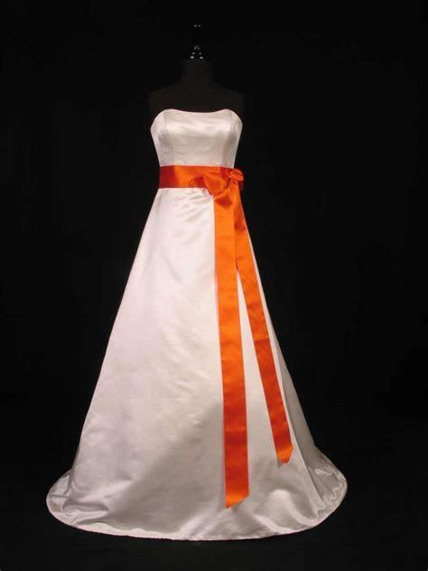 Pumpkin Orange Ribbon Sash   wedding   White wedding gowns