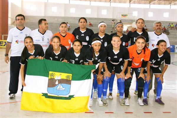 A equipe feminina de Carnaubais conquistou o título da Taça Brasil de futsal na atual temporada