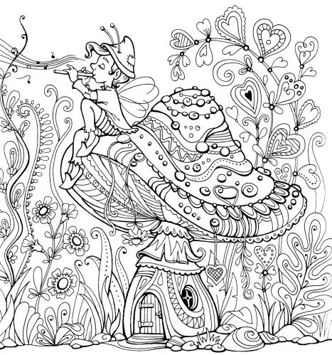 fairy garden drawing at getdrawings  free download