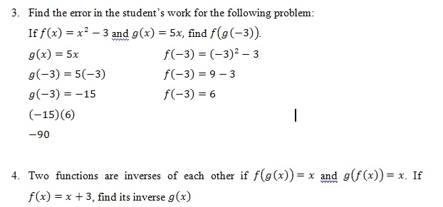 Composition of Functions of worksheet pdf and Answer Key. 25 scaffolded questions