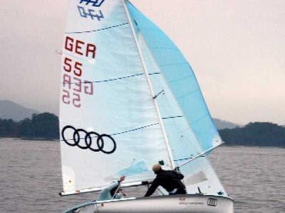 Primer entrenamiento internacional de 470 2011 en el CGV.