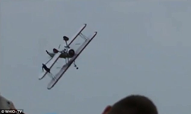 Fatal: Wing walker Jane Wicker and her pilot Charlie Schwenker were confirmed dead at the scene