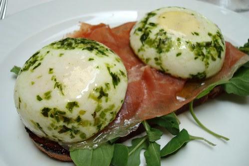 Egg and Prosciutto