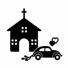 教会シルエット イラストの無料ダウンロードサイトシルエットac