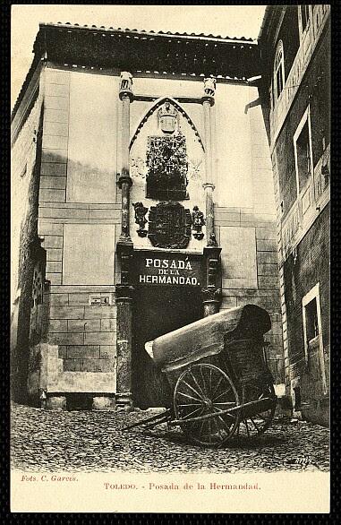 Posada de la Hermandad (Toledo) hacia 1905. Foto Garcés