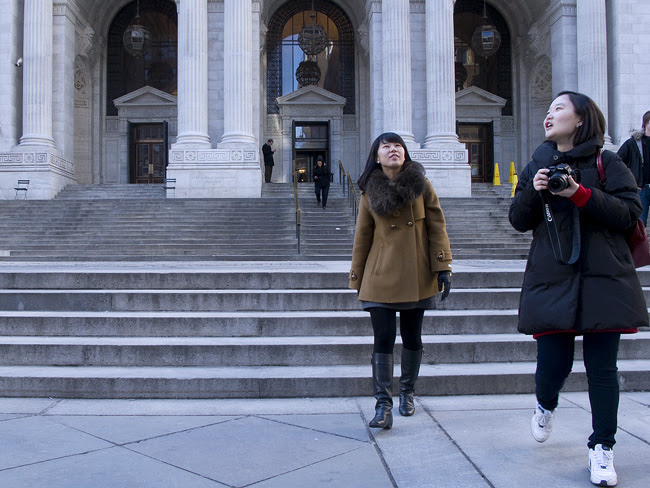 At the New York Public Library
