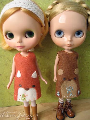 Fox and Bear face dresses