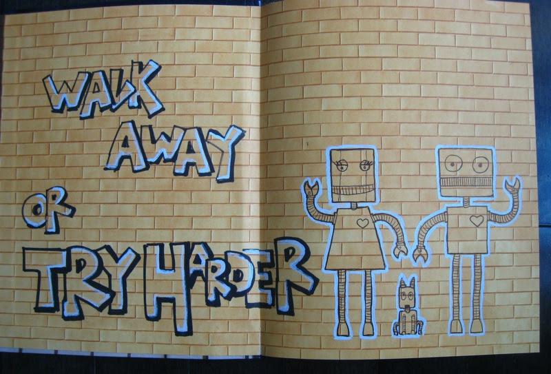 MJ's Sketchbook walls notebook grafitti