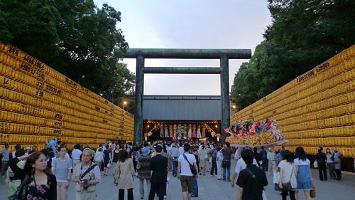 The crowd at Mitama Matsuri