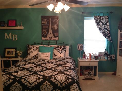 paris theme bedroom  teal walls wall color teal zeal