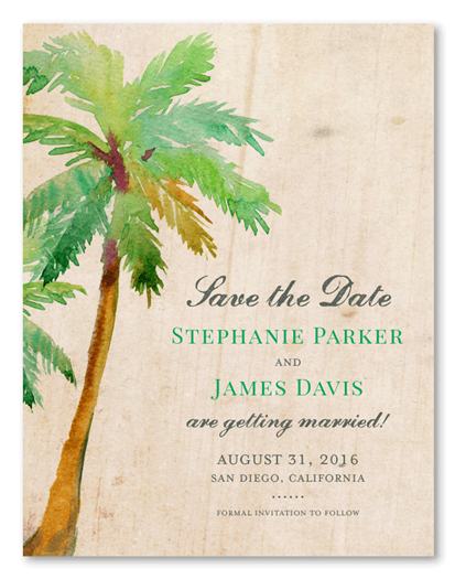 Paradise Island Save the Date