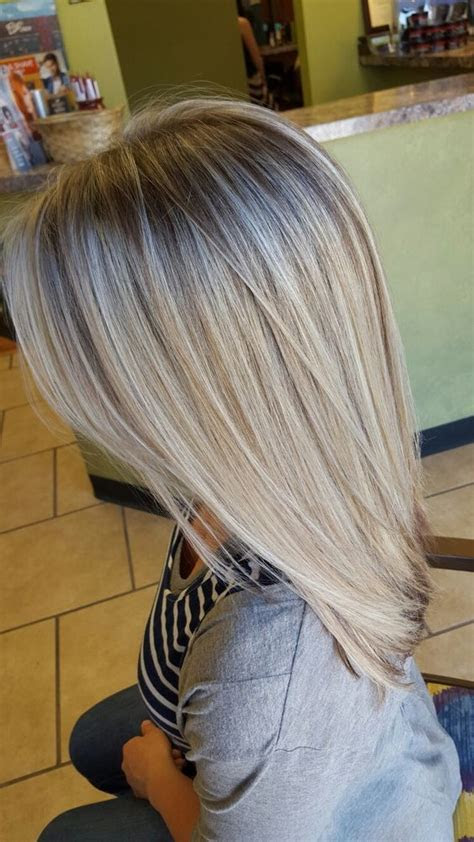 dimensional blonde hair chocolate  lights icy blonde