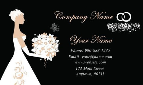 Wedding Coordinator Business Cards   Elegant & Beautiful