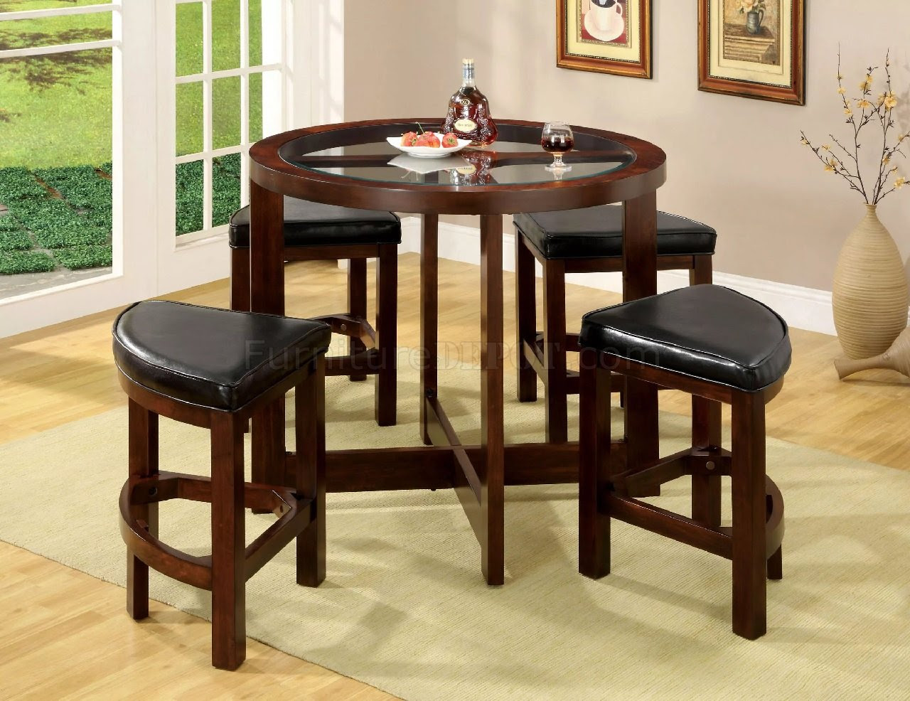 Crystal Cove I CM3321PT-5PK Counter Height Dinette Set in ...
