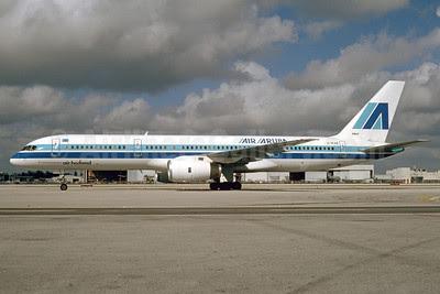 Air Aruba-Air Holland Boeing 757-23A G-IEAB (msn 24636) MIA (Bruce Drum). Image: 103399.