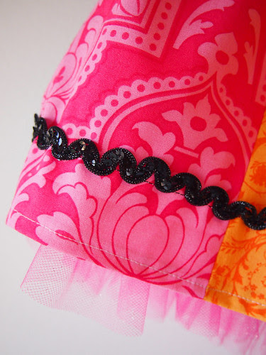 rainbow skirt sequin close up