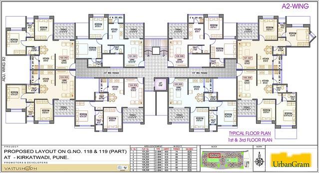 A2 1st & 3nd Floor - 2 BHK Flat for Rs. 25 Lakhs at Urbangram Kirkatwadi on Sinhagad Road Pune 411 024
