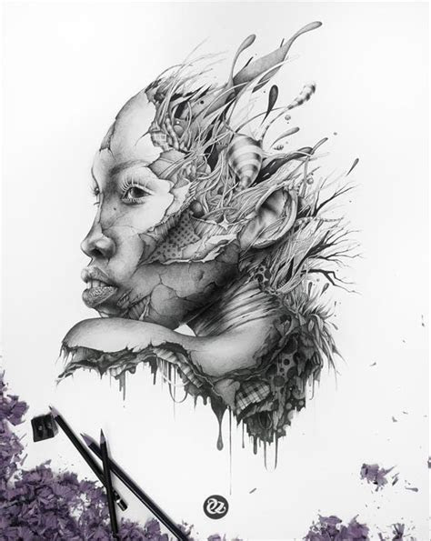 gorgeous drawings  french artist pez draw central