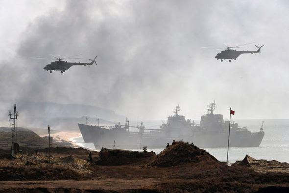 Russian ship at the Crimea port