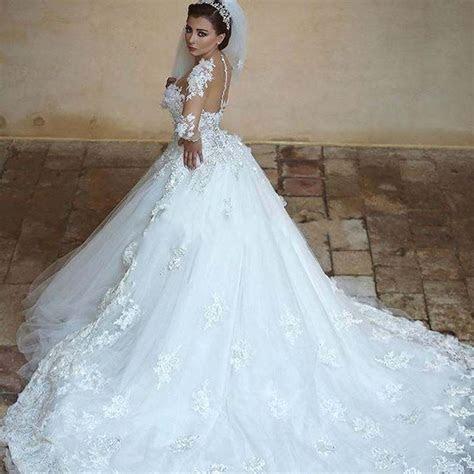 Mesmerizing Long Train Wedding Dresses Style