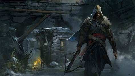 hd wallpaper ezio auditore crossbow art