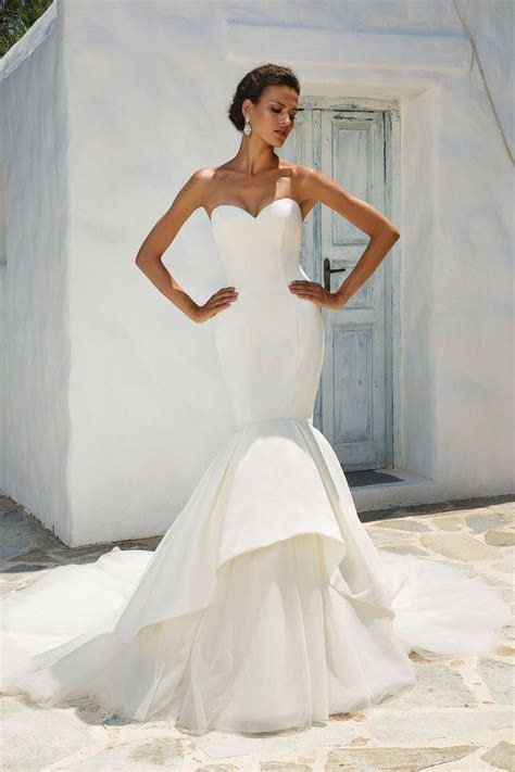Style 8933: Satin Mermaid Wedding Dress Accented with