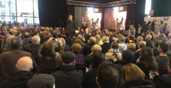 Intervención de la alcaldesa de Barcelona, Ada Colau, en la presentación de la nueva formación Un País En Comú. E.P.