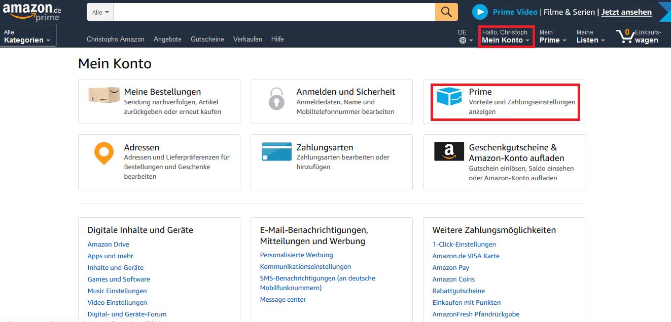 Amazon Prime Kündigen Geld Zurück