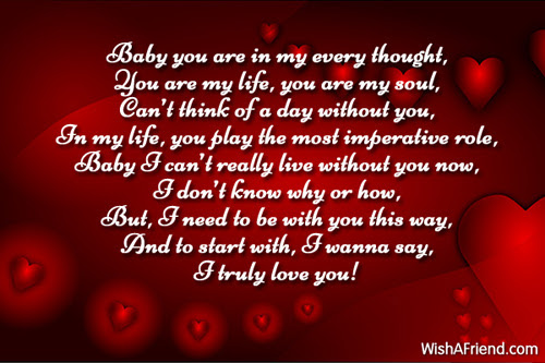 Baby You Are In My Every Love Message