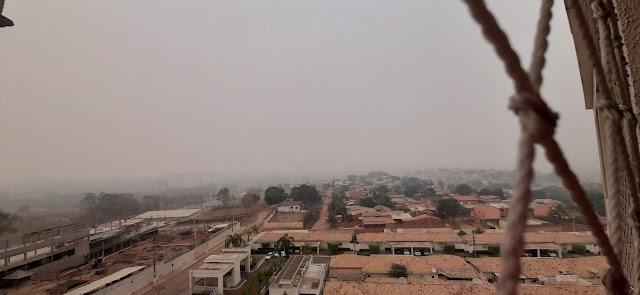 Fumaça de queimadas no Pantanal encobre Cuiabá