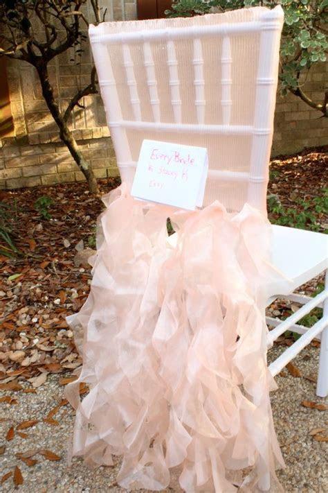 Peach pink blush chiavari chair cover tutu wedding chair