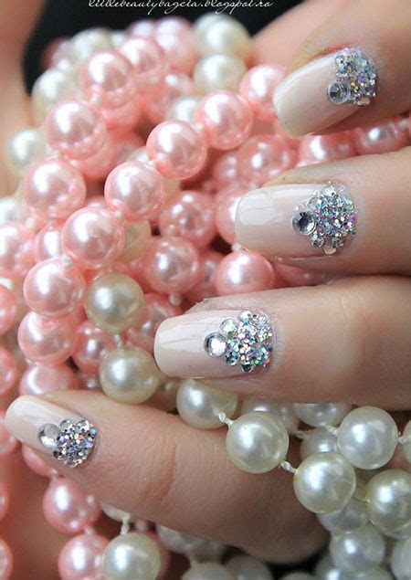 Simple Pink Wedding Nail Art Designs & Ideas 2014