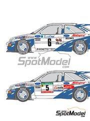 Calcas 1/24 Shunko Models - Ford Escort RS Cosworth Grupo A Mobil1 Nº 2, 5, 6 - Francois Delecour + Daniel Grataloup, Miki Biasion, Tiziano Sivero - Rally de Montecarlo, Rally de Portugal 1993 - para kit de Tamiya image