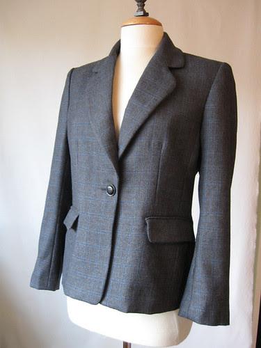 Grey jacket front finished