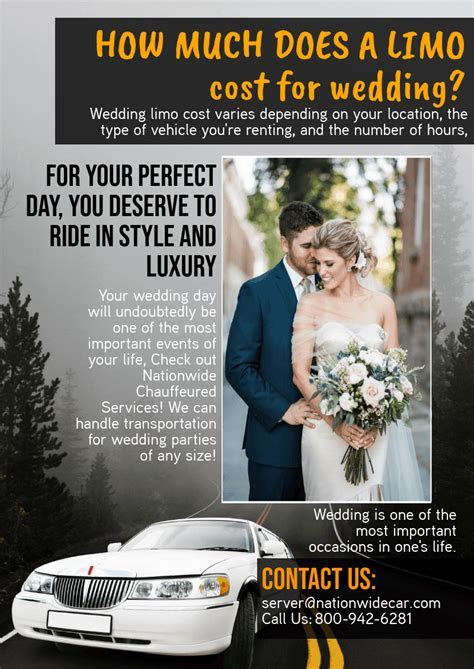 How Much Does A Limo Cost For Wedding   Nationwidecar