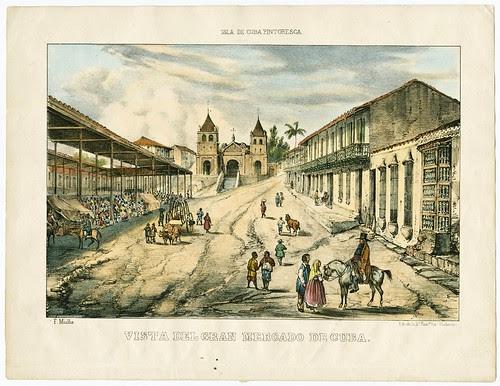 Vista del Gran Mercado de Cuba