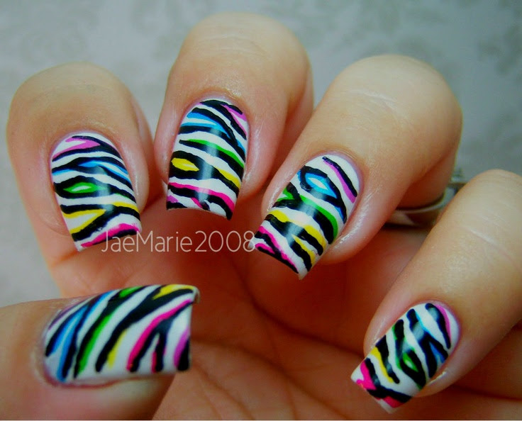 Double or 2D effect Zebra Print Nail Design Tutorial http://www - PackAPunchPolish: How To Zebra Print Nail Art - Nail Art Design