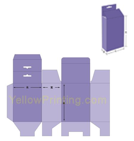 Tuck Top Snap Lock Bottom Paper Box with Hang Tag