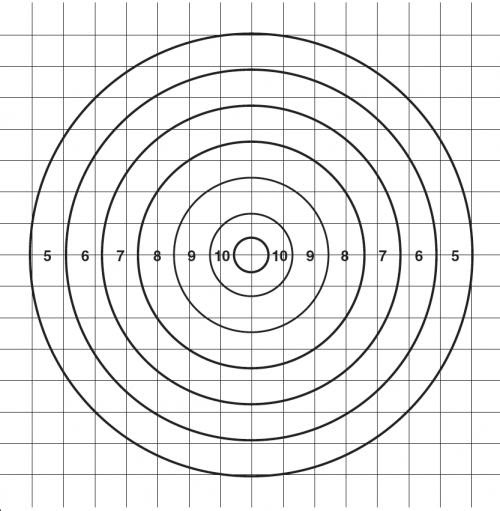 1000 yd. MOA target to adjust scope.
