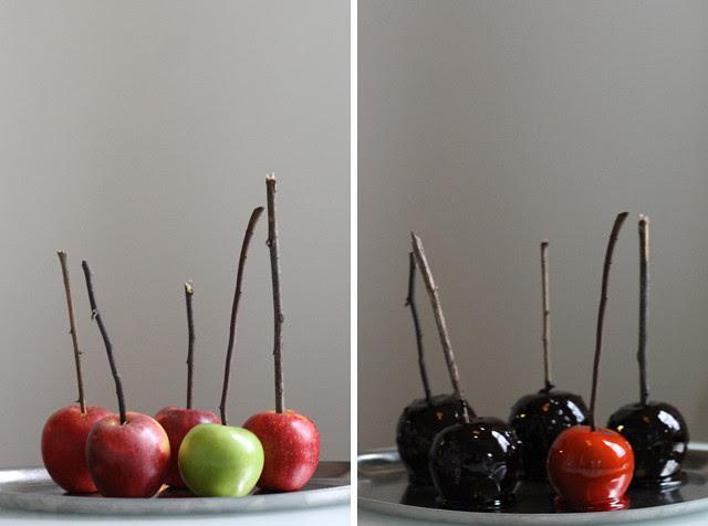 Halloween Recipe: Creepy Black Candy Apples