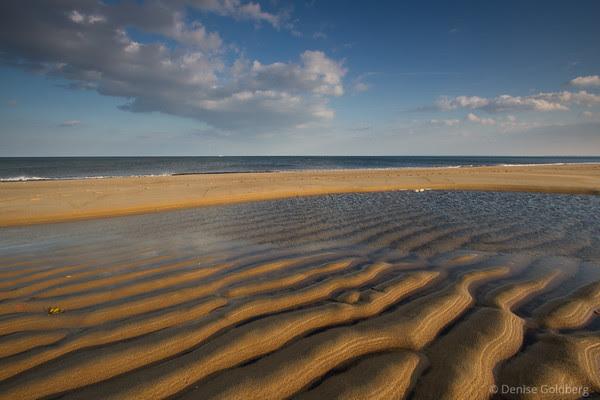 Parker River beach, sculpted sand, water