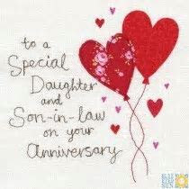 A Daughter and Son In Law Anniversary Card   cards   Happy