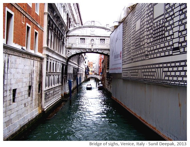 Venice walking tour, Bridge of sighs, Italy - images by Sunil Deepak