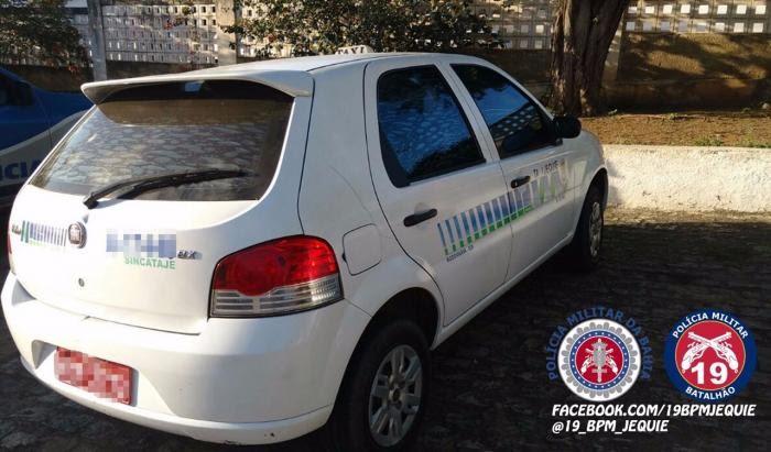 Veículo Fiat Pálio foi recuperado. Foto: Divulgação/PM