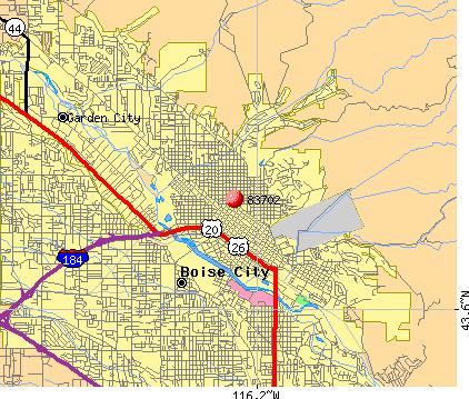 idaho zip codes map