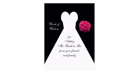 Words of Wisdom for Brides Post Card   Bridal Gown