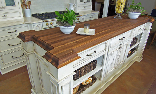Walnut Wood Kitchen Island Countertop by Grothouse ...