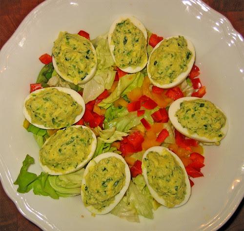 Uova sode ripiene di zucchine by fugzu