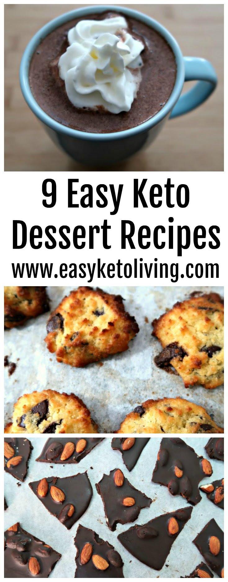 9 Easy Keto Dessert Recipes - Quick Low Carb Ketogenic ...